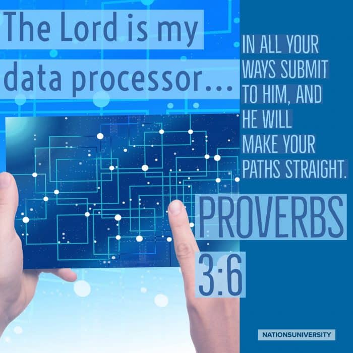 Weekly Reflection – The Lord Is My Data Processor