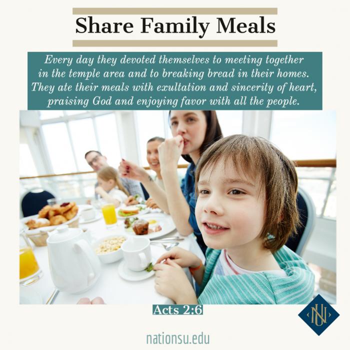 Weekly Reflections – Intentional Families III