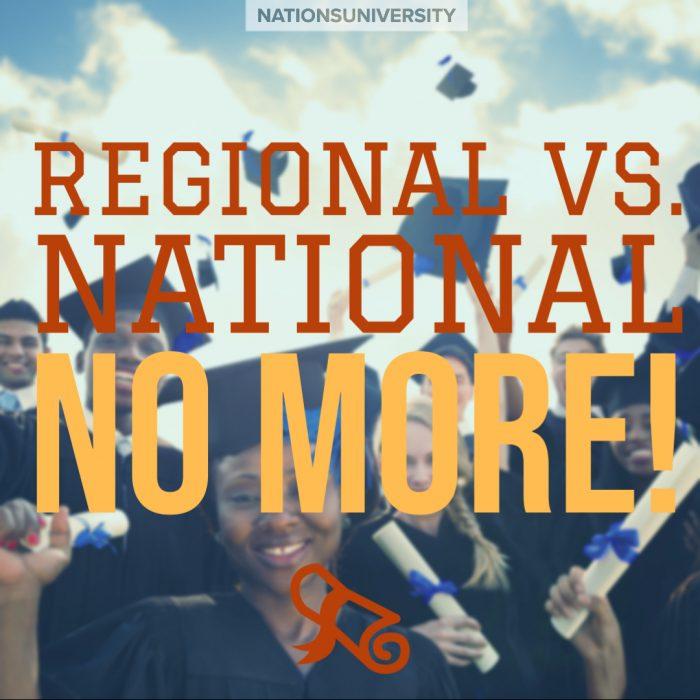Regional versus National—No More!