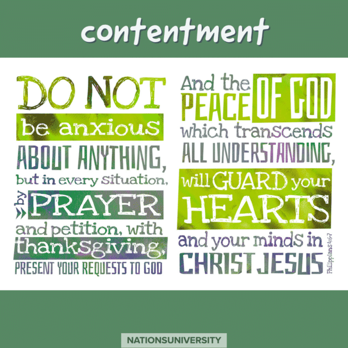 Weekly Reflection – Living With Contentment